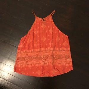ASTR Flowy Orange Top with lace